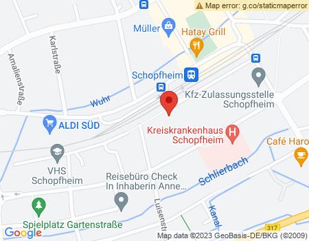 Google Map: Luisenstraße 1 in79650 Schopfheim