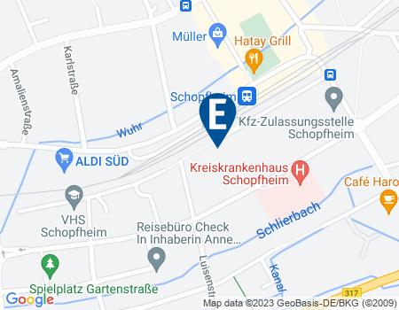 Google Map: Bannmattstraße 9 in 79650 Schopfheim