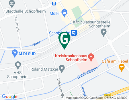 Google Map: Bannmattstraße 9 in 79650 Schopfheim