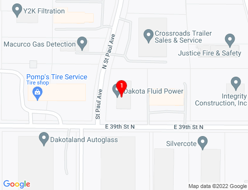 Google Map of 3500 N. St. Paul Ave., Sioux Falls, SD 57104