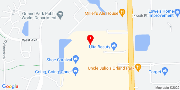 Google Map of 15774 S. LaGrange Rd., Orland Park, IL 60462