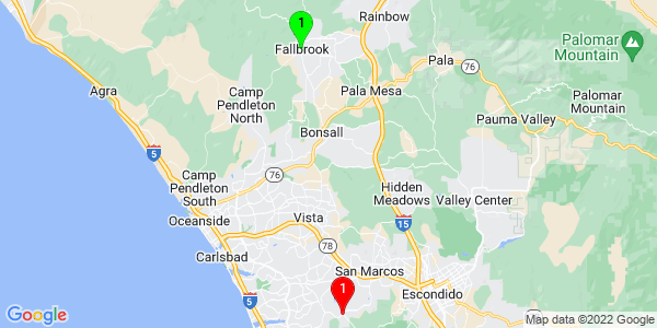 Google Map of Fallbrook, CA