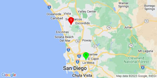 Google Map of Lake Murray, CA