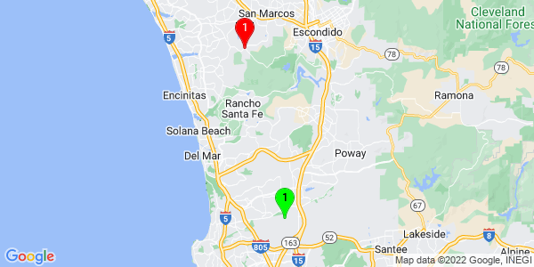 Google Map of Miramar, San Diego, CA