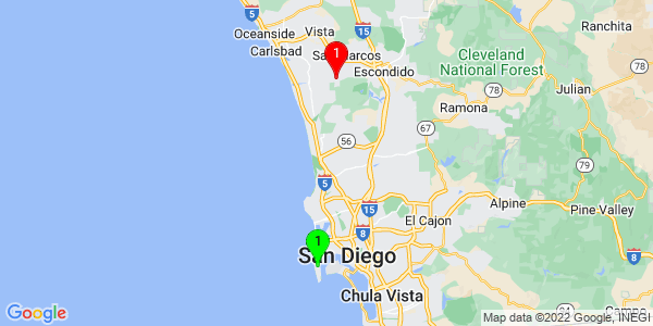 Google Map of Point Loma, San Diego, CA