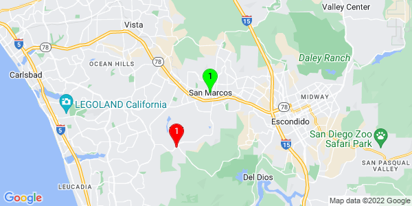 Google Map of San Marcos, CA