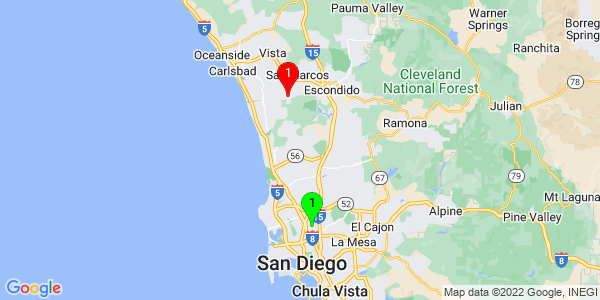 Google Map of Serra Mesa, San Diego, CA