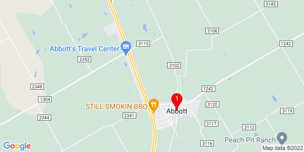 Google Map of Abbott, TX