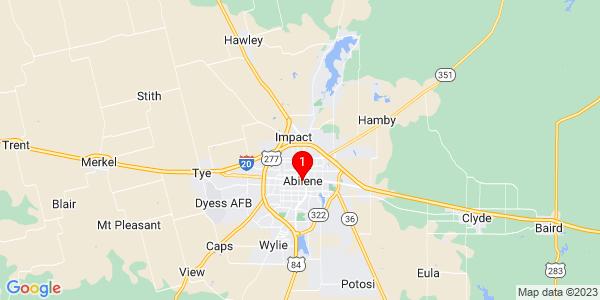 Google Map of Abilene, TX