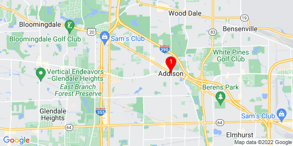 Google Map of Addison, IL