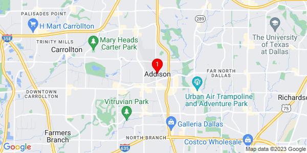 Google Map of Addison, TX