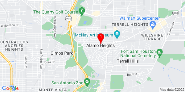 Google Map of Alamo Heights, TX