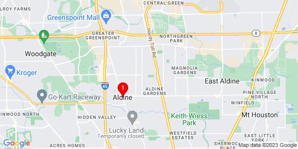 Google Map of Aldine, TX