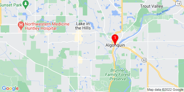 Google Map of Algonquin, IL