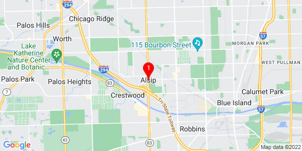 Google Map of Alsip, IL