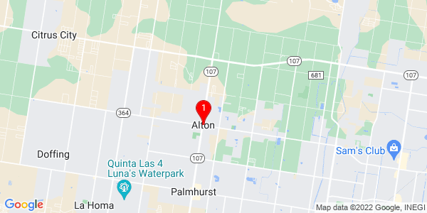 Google Map of Alton, TX