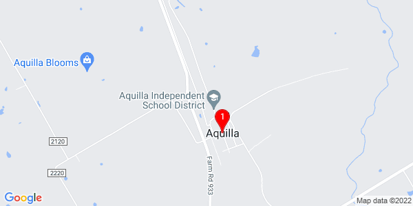 Google Map of Aquilla, TX