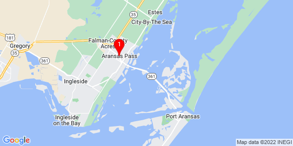 Google Map of Aransas Pass, TX