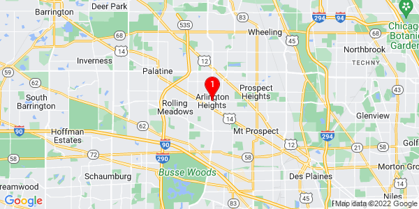 Google Map of Arlington Heights, IL