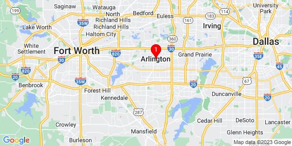 Google Map of Arlington, TX