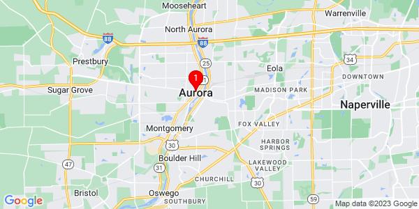 Google Map of Aurora, IL