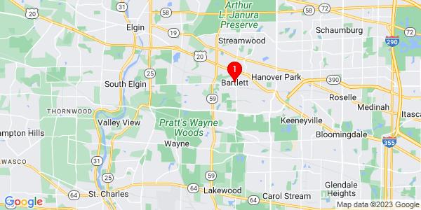 Google Map of Bartlett, IL