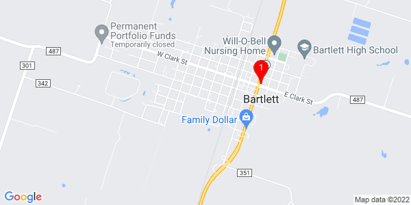 Google Map of Bartlett, TX