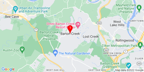 Google Map of Barton Creek, TX