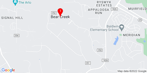 Google Map of Bear Creek, TX