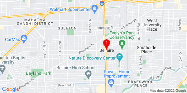 Google Map of Bellaire, TX