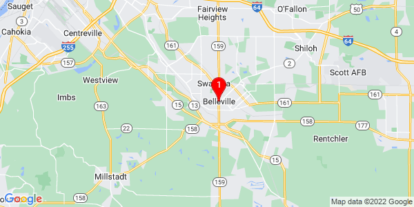 Google Map of Belleville, IL