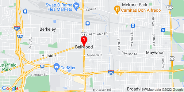 Google Map of Bellwood, IL