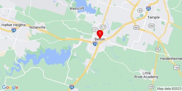 Google Map of Belton, TX