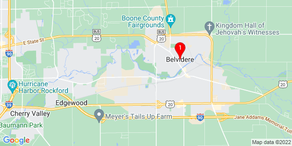 Google Map of Belvidere, IL