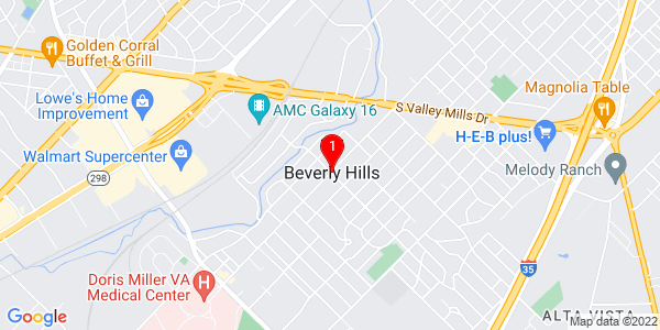 Google Map of Beverly Hills, TX