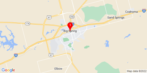 Google Map of Big Spring, TX