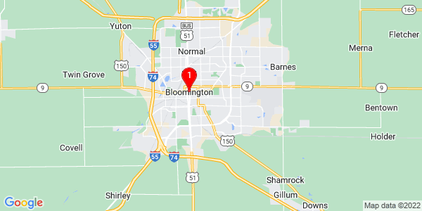 Google Map of Bloomington, IL