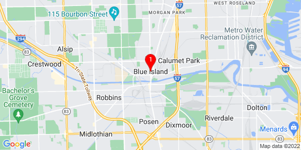 Google Map of Blue Island, IL