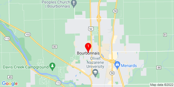 Google Map of Bourbonnais, IL