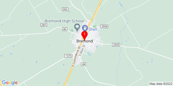 Google Map of Bremond, TX