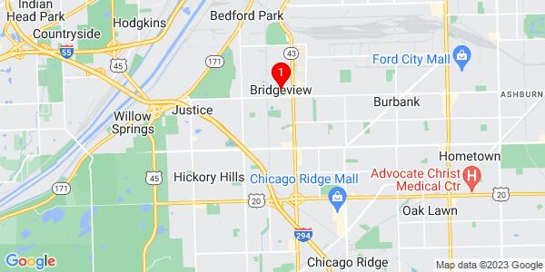 Google Map of Bridgeview, IL