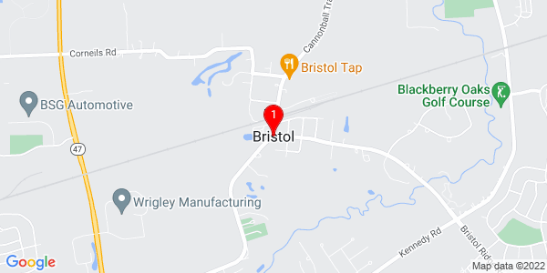 Google Map of Bristol, IL