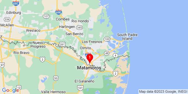 Google Map of Brownsville, TX