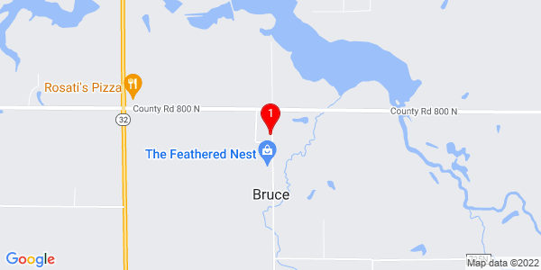 Google Map of Bruce, IL