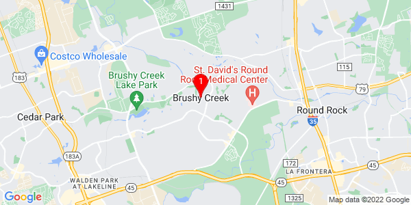 Google Map of Brushy Creek, TX