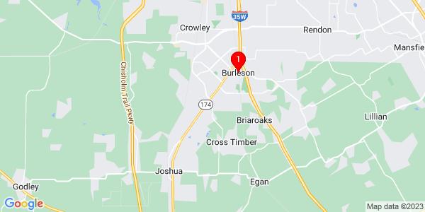 Google Map of Burleson, TX