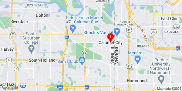 Google Map of Calumet, IL