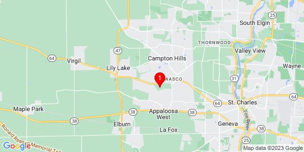 Google Map of Campton, IL