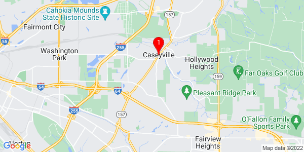 Google Map of Caseyville, IL