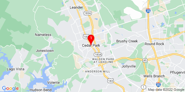 Google Map of Cedar Park, TX